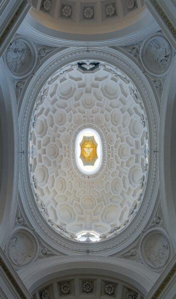 サン・カルロ・アッレ・クワァットロ・フォンターネ天井